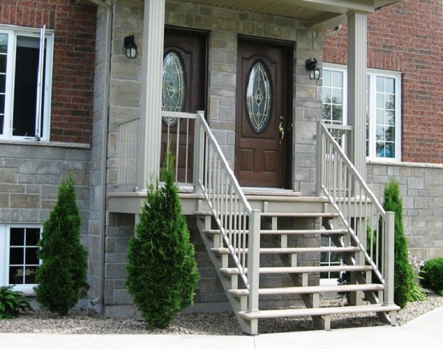 balcon, escalier et rampe